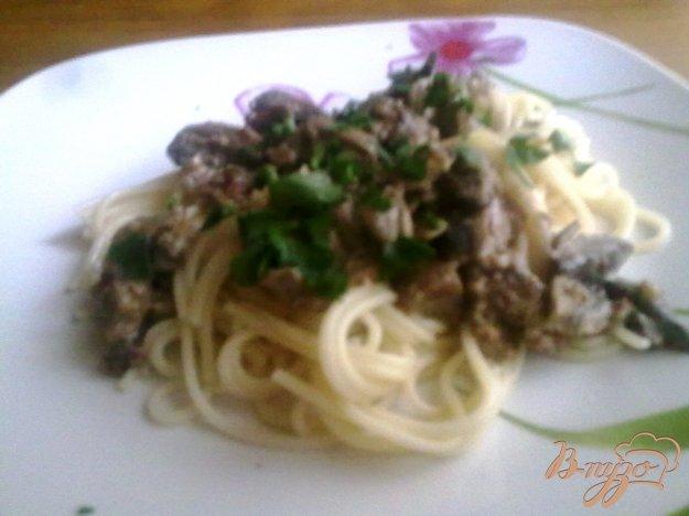 Рецепт Спагетти с грибами и орехами