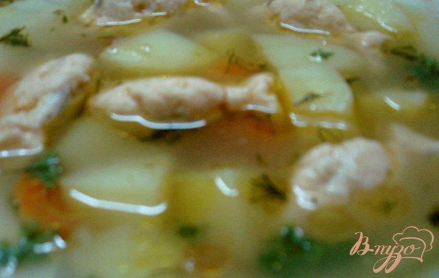Фото приготовление рецепта: Суп с рыбными фрикадельками  (бюджетный) шаг №5