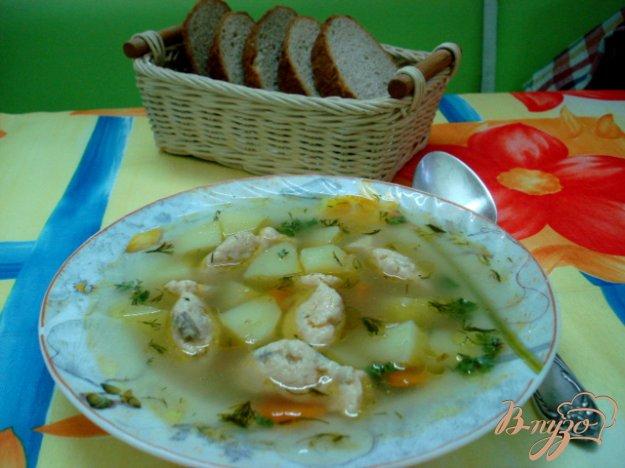 фото рецепта: Суп с рыбными фрикадельками  (бюджетный)