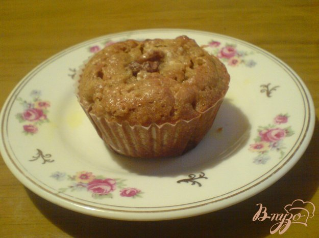 фото рецепта: Тыквенные кексы с корицей и грецкими орехами