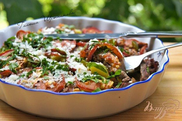 Рецепт Запеченное мясо с овощами и грибами