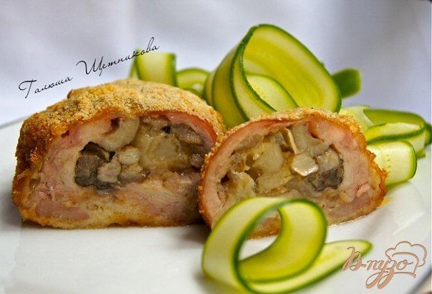Рецепт Куриные зразы с лесными грибами и сыром