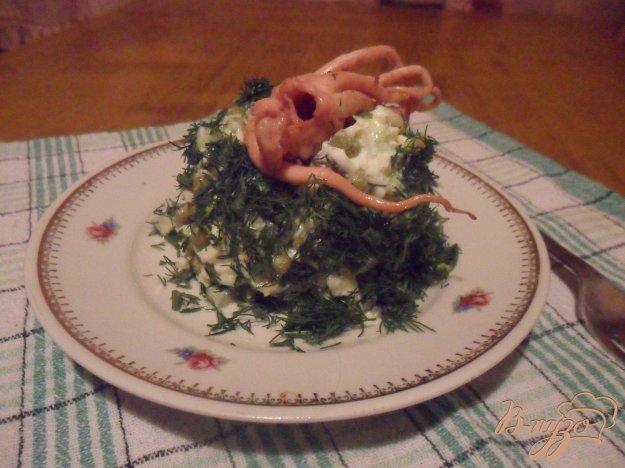 Рецепт Салат с морским коктейлем
