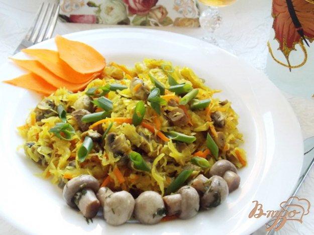 Рецепт Тушеная капуста с грибами