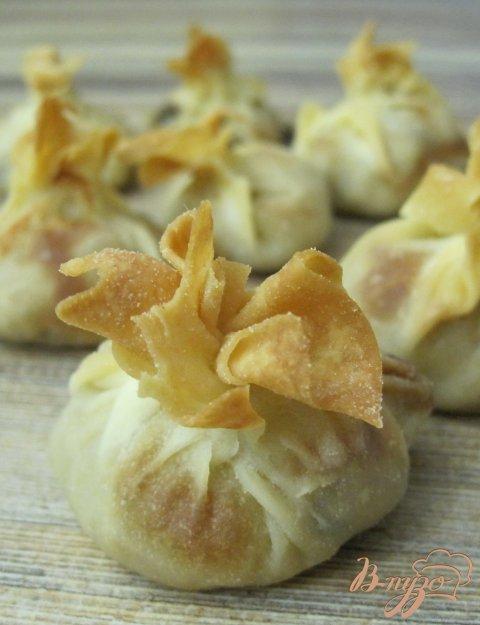Рецепт Мешочки с грибами