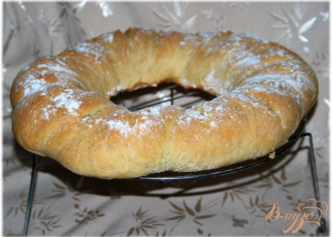 Фото приготовление рецепта: Хлеб-бублик Ciambella шаг №6