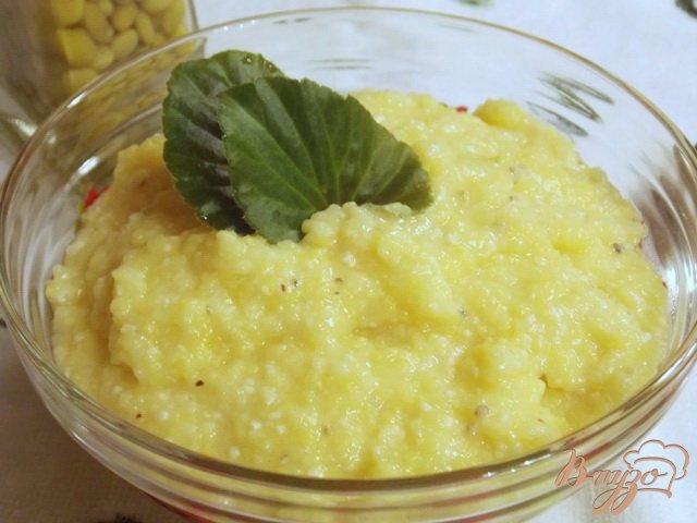 Фото приготовление рецепта: Полента с сыром шаг №6