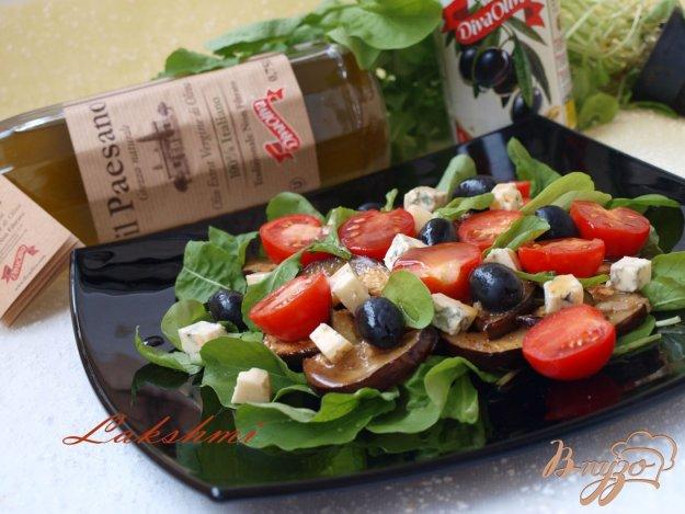 Рецепт Салат с рукколой,баклажанами и помидорами-черри