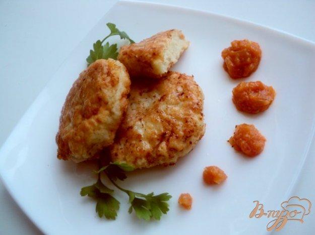 Рецепт Необычные рыбные котлеты с фруктово-овощным конфитюром