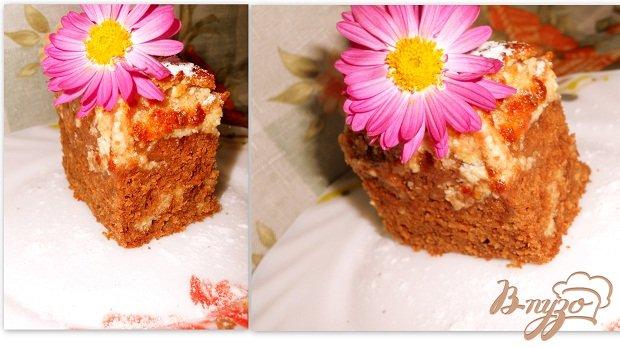 фото рецепта: Шоколадный кекс с творогом