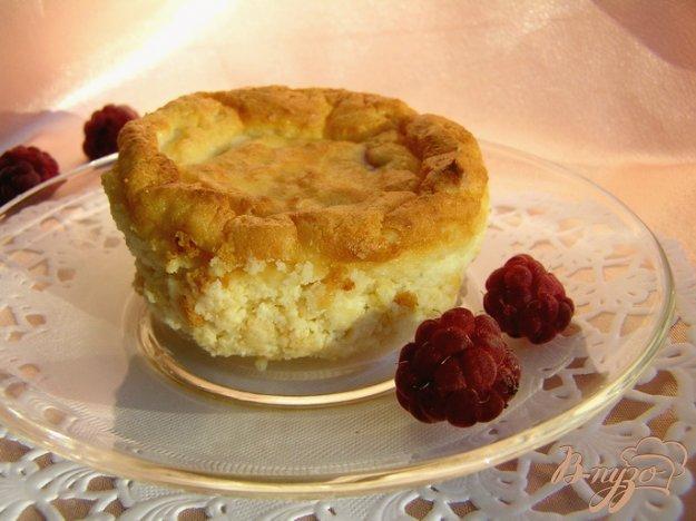 Рецепт Запеченный творожный десерт с малиной