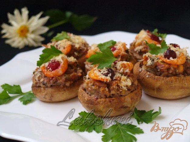 Рецепт Фаршированные шампиньоны с креветками