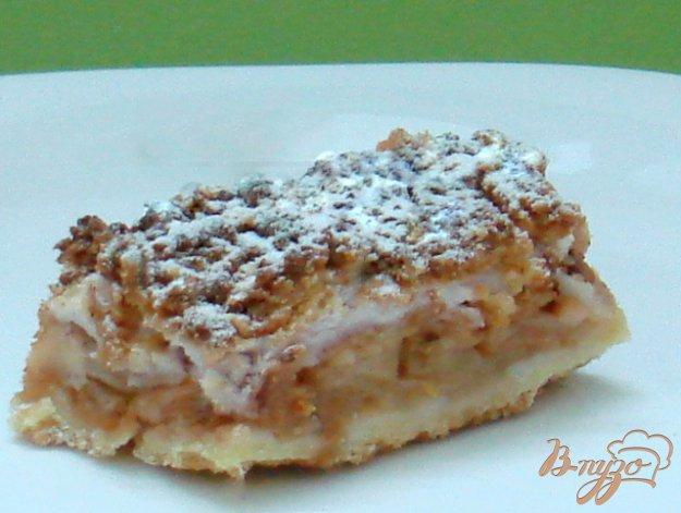 Рецепт Пирог песочный яблочный с киселём