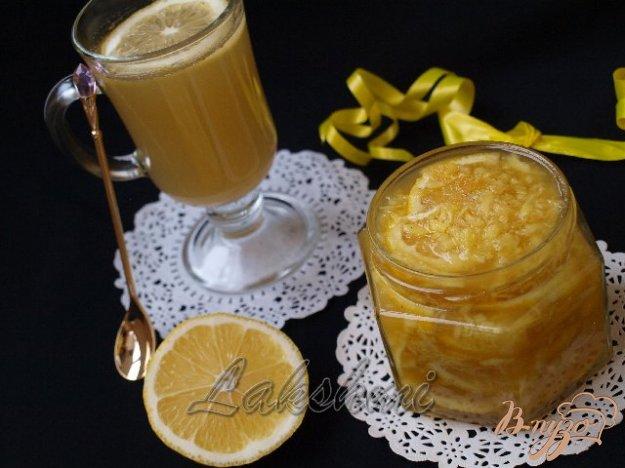 фото рецепта: Лимон с имбирём и мёдом