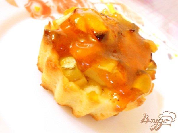 Рецепт Галеты с яблоками и абрикосовым джемом