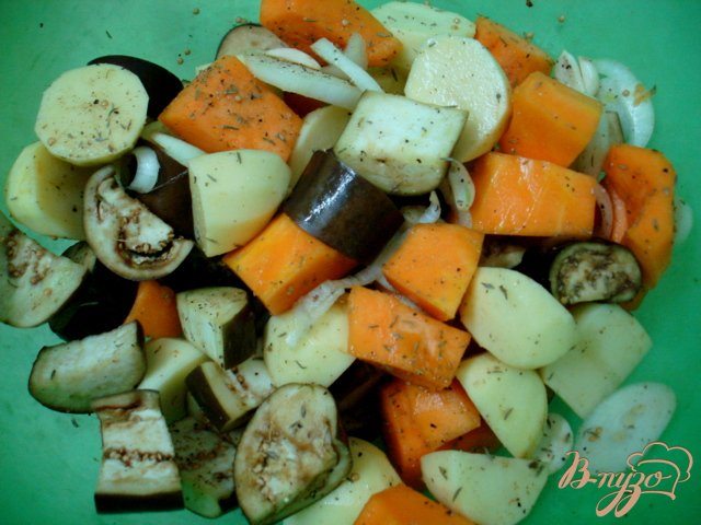Фото приготовление рецепта: Овощи запеченные шаг №1