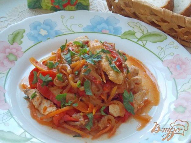 Рецепт Овощное рагу с курицей
