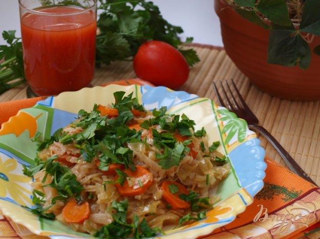 фото рецепта: Капуста с рисом по-гречески