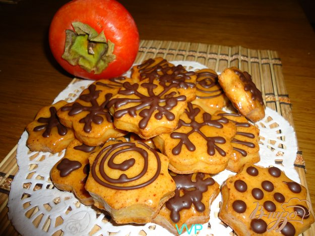 фото рецепта: Печенье творожное с помадкой из хурмы