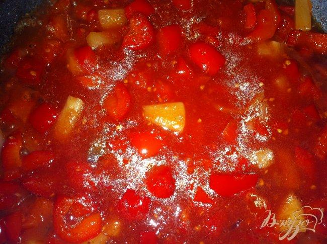 Фото приготовление рецепта: Фарфалле (Farfalle)  с соусом а-ля болоньезе шаг №5