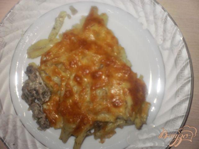 Фото приготовление рецепта: Мясо запеченное с картофелем шаг №6