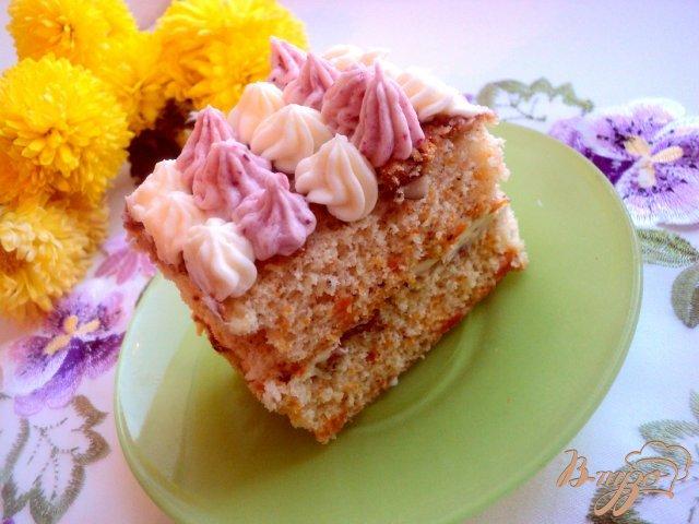 Фото приготовление рецепта: Тыквенно-ореховое пирожное шаг №9