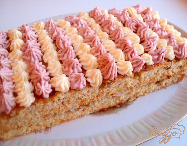 Фото приготовление рецепта: Тыквенно-ореховое пирожное шаг №8