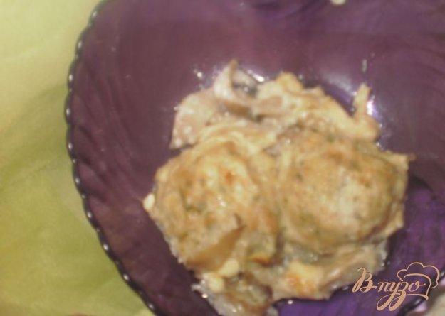Рецепт Куриные фрикадельки в сливочно-грибном соусе