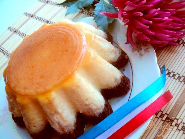 Фото приготовление рецепта: Торт «Крем-карамель» шаг №8
