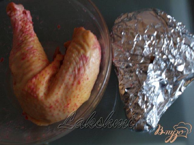 Фото приготовление рецепта: Куриные окорочка с хреном шаг №1