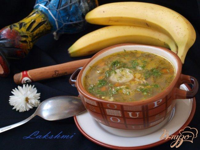 Фото приготовление рецепта: Кубинский суп с бананами шаг №8