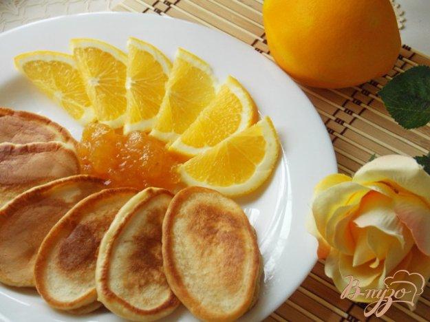 Рецепт Апельсиновые оладьи на ряженке