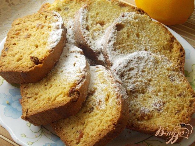 Фото приготовление рецепта: Апельсиновый кекс с изюмом шаг №6