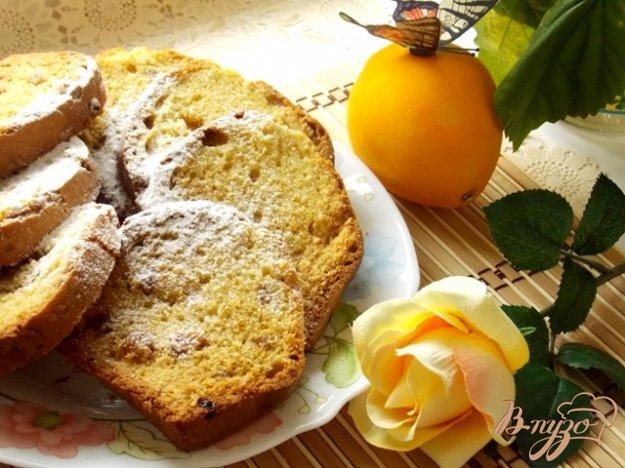 фото рецепта: Апельсиновый кекс с изюмом