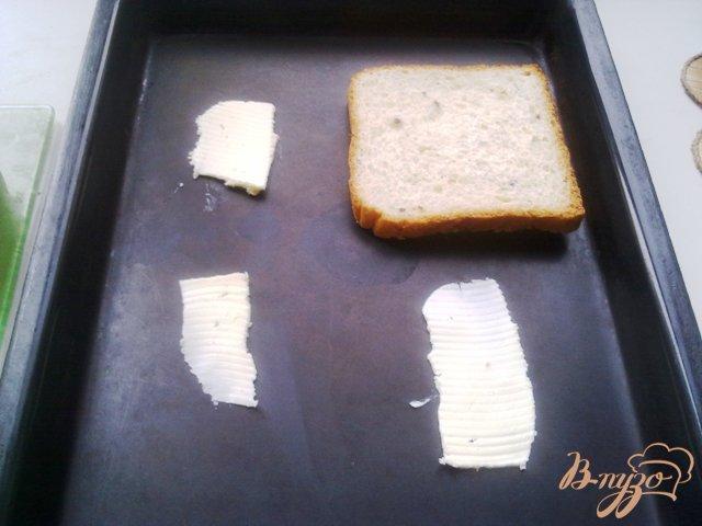 Фото приготовление рецепта: Горячие бутерброды второй вариант шаг №4