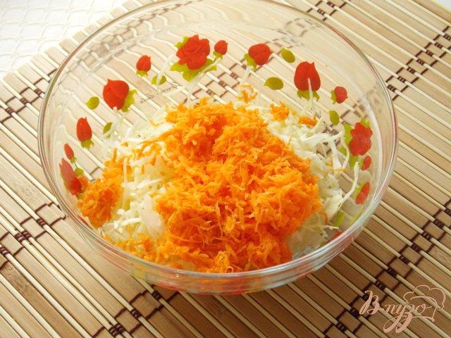 Фото приготовление рецепта: Салат из капусты, яблок и ананасов шаг №2