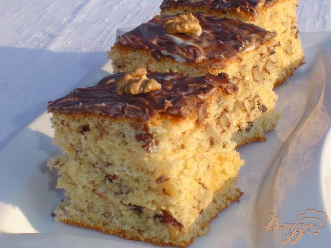 Фото приготовление рецепта: Пирог ореховый без муки шаг №8