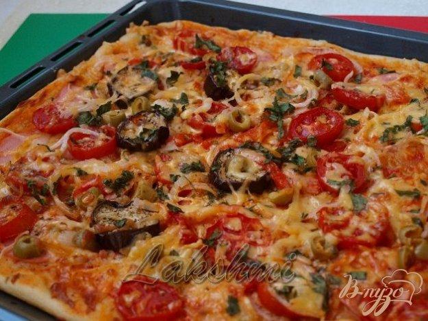 Рецепт Пицца с баклажанами