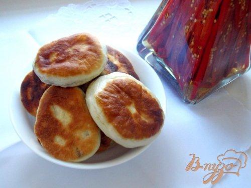 Пирожки с куриной печенью и болгарским перцем