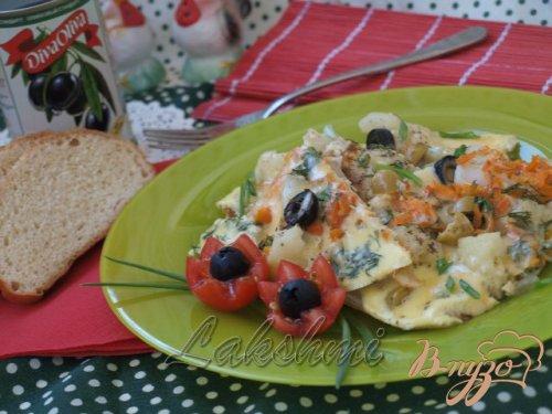 Омлет  с цветной капустой по-средиземноморски