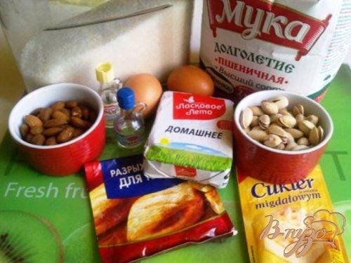 Cantuccini с миндалем, фисташками, изюмом и цукатами