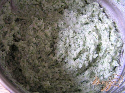 Рисовый мусс со шпинатом