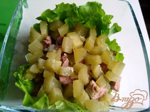 """Салат мясной с соусом """"Универсальный"""""""