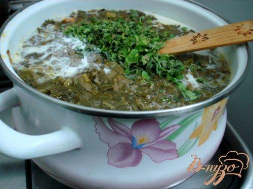 Щавелевый суп с рисом