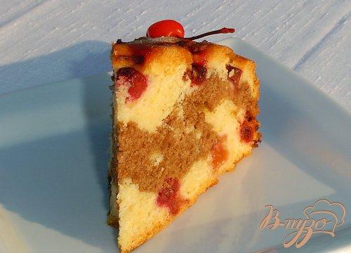 """Пирог с вишней """"День-ночь"""""""
