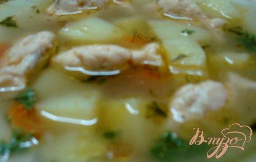 Суп с рыбными фрикадельками  (бюджетный)