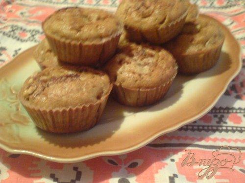 Тыквенные кексы с корицей и грецкими орехами