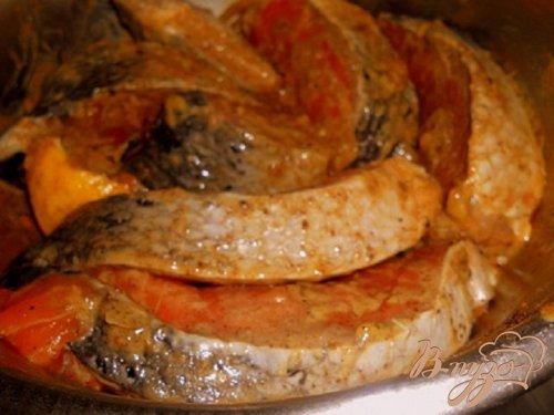 Семга в горчично - соевом маринаде