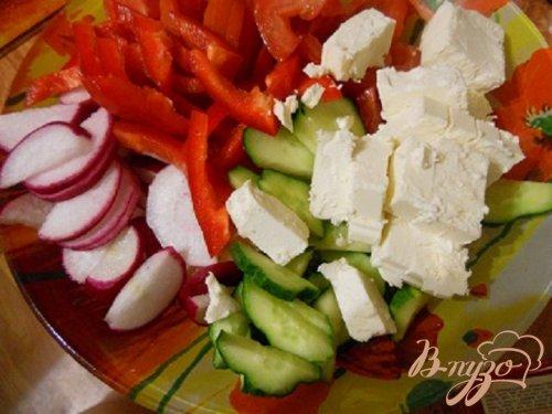 Салат со слойкой