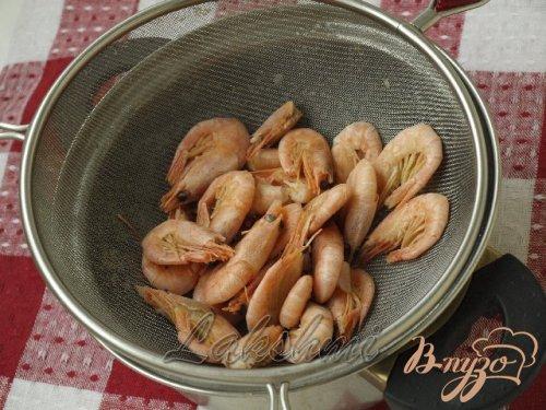 Фаршированные шампиньоны с креветками